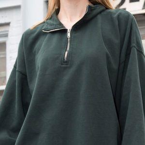 Brandy Melville Missy Half-Zip Sweater